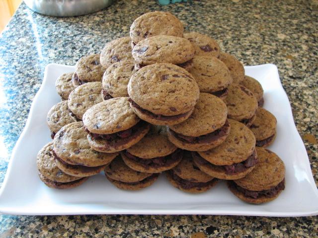 Cherry Ganache Stuffed Chocolate Chunk Espresso Cookies ...